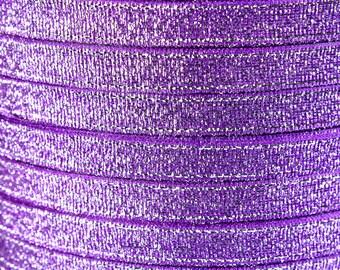 6mm Purple Sparkle ribbon - Satin ribbon - Metallic Sparkle satin ribbon - Spool ribbon - 25 yards - 75 feet (R055) -Flat rate shipping