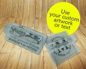 See-Thru Acrylic Custom Rubber Stamp Featuring Your Design, Logo or Artwork