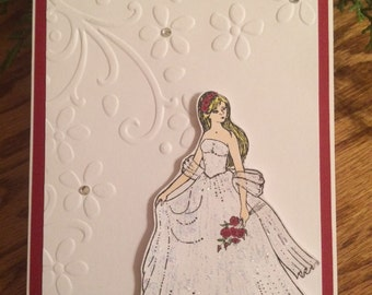 Bridal Shower Card - Handmade Bridal Shower Card