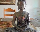 Spiritual Sculpture - Calming Sitting Buddha - Indoor Decor - Meditating Zen Statue - Inspired by Taoism - Buddhism - Hinduism