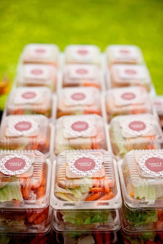 Plastic Boxes 12 Clear Snack Carry Out Food Box