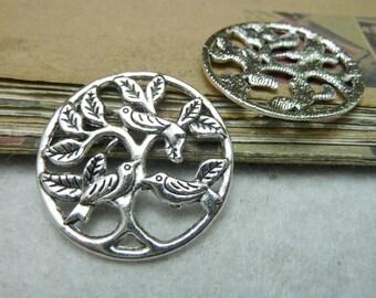10pcs 30mm antique silver bird charms pendant C7829