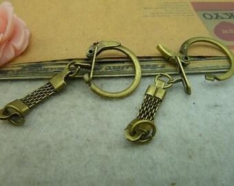 10pcs 24*60mm antique bronze toggle clasps charms pendant C3675