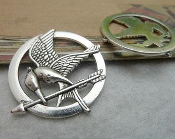 5pcs 36mm antique silver bird charms pendant C6820