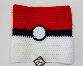 Pokemon Ball Cowl- Scarf-Pokemon-Pikachu- Pokemon Scarf-Neck Warmer- Anime-Geek