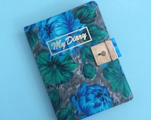 DEAR DIARY )( Vintage Blank Diary with lock )( Made in Japan )( 1960s