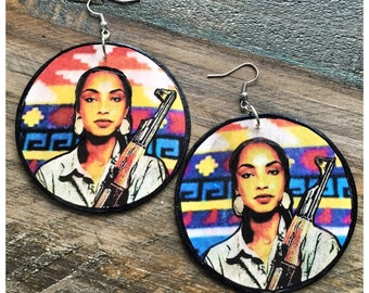 Soldier of Love Sade earrings- size L and XL
