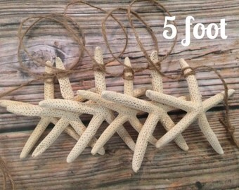 Starfish Beach Wedding Garland, Starfish Garland, 5 foot Garland, Christmas Garland, Beach Garland, Beach Wedding Garland, Sea Star Garland