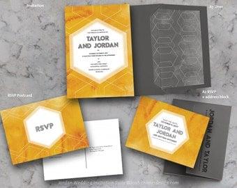 JORDAN (Watercolor) Invitation Suite Printables