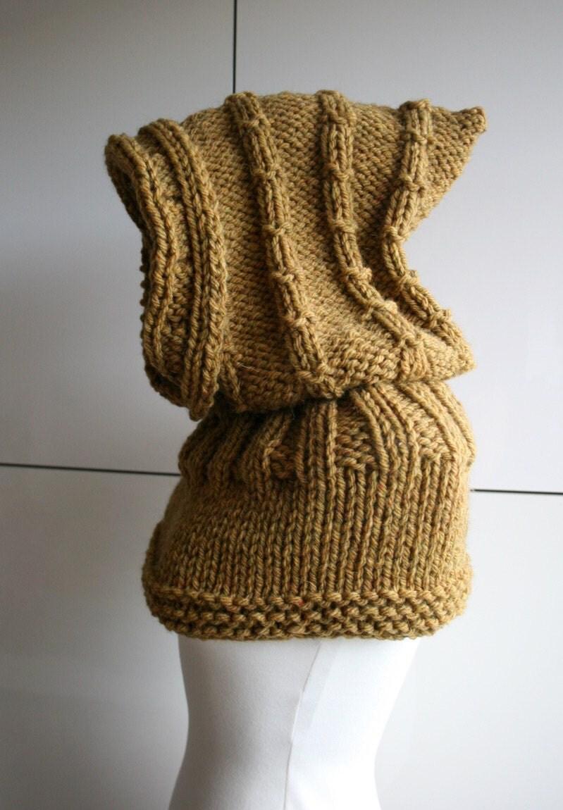 Cowl Hood Knitting Pattern : KNITTING PATTERN Oversized hooded cowl knitting pattern