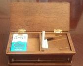 Musical Cigarette Dispenser Box Coffin Shape c. 1940