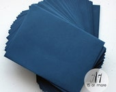 "Navy Envelopes A7 Paper Stationery, Colored Invitation Envelopes, 5"" x 7"" Blue Square Flap, Baby Shower, Birthday Party, Wedding (NAENV)"