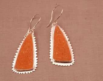DRUSY QUARTZ EARRINGS in sterling