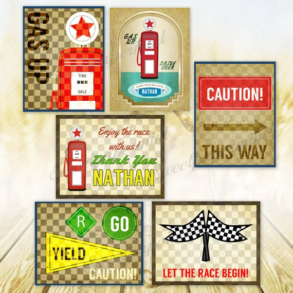 Car Birthday Party Transportation Race – Car for Sale Signs Printable