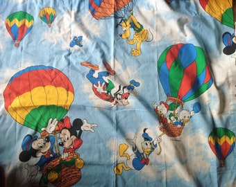 Vintage handmade Mickey and Friends Window curtain set 1 panel