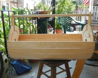 large wood planter