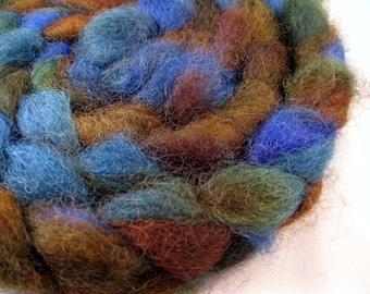 WOOD DUCK - Handpainted Romney Wool Roving
