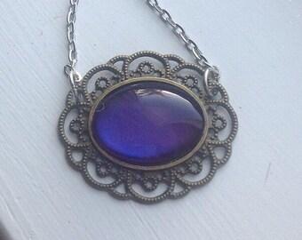 Purple Rain: painted necklace
