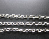 Silver Cable Chain Oval Cross Chain 4x3mm 32ft DIY Jewelry Making Supplies Findings