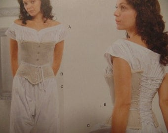 Victorian Corset Undergarments Sewing Pattern Simplicity 2890 Plus Size 16, 18, 20, 22, 24