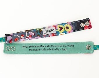 Inspirational Bracelet, Blessing Band™, Secret Message Bracelet, Grace Bracelet, Inspirational Jewelry, Quote Bracelet, Inspirational Cuff