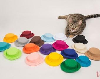 Cat Hat, Wedding Hat Dogs, Pet Hat, Dog Hat, Felt Dog Hat, Cat Felt Hat, Rainbow Dog Hats