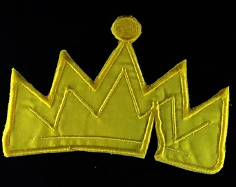Disney Descendants Inspired, Evie's Icon, Wicked Crown, Embroidered Iron on/Sew on Patch 3 Sizes