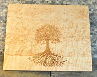 Family Tree hand crafted cutting board -  christmas gift - engagement gift - house warming gift- personalized custom family gift - maple
