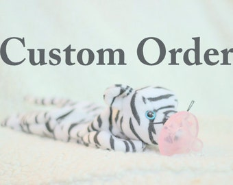 Custom pacifier holder pacimal - you choose beanie baby and pacifier