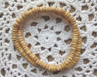 bohemian jewelry, beachcomber coconut wood beach bracelet