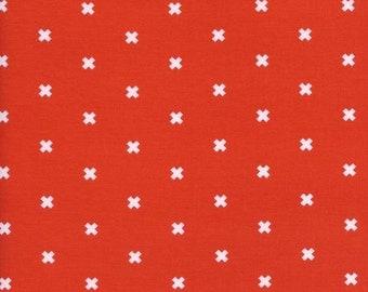 Cotton + Steel - Basics - XOXO in Clementine - 5001-013 - 1/2 Yard