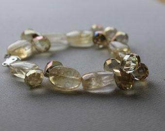 Natural Citrine Oval Stone Bracelet