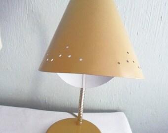 Mid Century Deep Mustard Colored Gooseneck Bullet Lamp