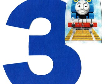 DIY Thomas the train applique and pick any number iron on applique