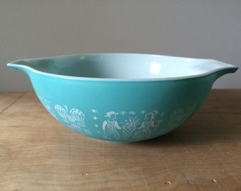 Vintage 1970s Pyrex Butterprint 4qt Mixing Bowl #444
