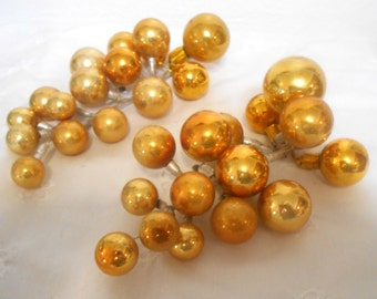 Vintage Mercury Glass Gold Cluster, Pick, Spray, Christmas Decor