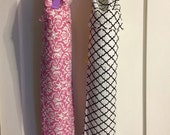 Pink and white damask OR black and white modern Print yoga bag with pocket. **Ready to ship NOW!