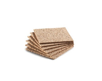 Cork Coasters Set of 6 Natural Coaster Backs Square Cork Coasters