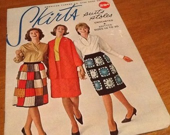 3 vintage crochet and knitted booklets