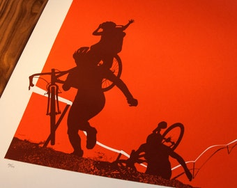 Proud Mama - Artcrank Minneapolis 2015 Screen Printed Bike Poster