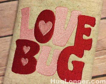 Love Bug Filled embroidery file