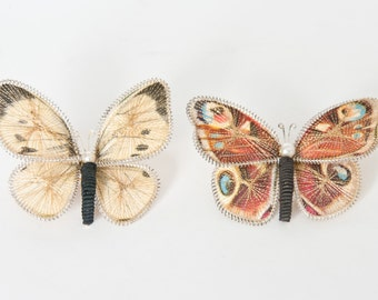 Vintage Filigree Butterfly Brooches (2), Vintage Filigree Brooch, Vintage Butterfly Jewelry
