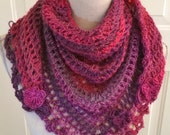 Crocet Scarf,  Road Trip Scarf, Triangle Scarf, Crochet Wrap, Crochet Shawl, Versatile Accessory