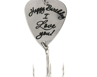 """LGU(TM) Personalized Hook Fishing Lure for Gift - """"Happy Birthday Lure I Love You Lure"""""""