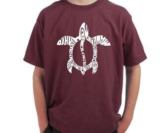 Boy's T-shirt - Honu Turtle - Hawaiin Islands
