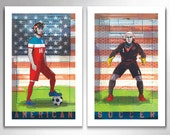 AMERICAN SOCCER Limited Edition Set of Two 11x17 Art Prints by Rob Ozborne