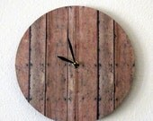 SALE, Unique Wall Clock, Wood Print, Decor and Housewares, Wall Clock, Home and Living, Rustic Decor, UniqueGift