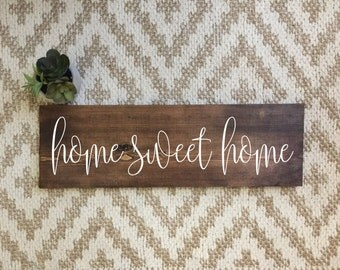 "Shop ""home sweet home sign"" in Home Décor"