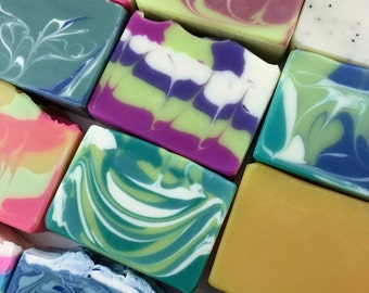 FREE SHIPPING - 6 for 32 - your choice - Handcrafted Vegan Soap, Cold Process Soap, Gift Set, Soap Sale, EvieSoap, Multi-Pack Soaps