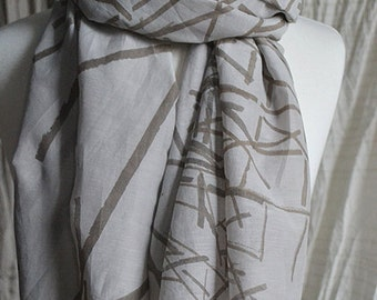 the breezy long, hand screen printed with natural dyes, cotton/ silk